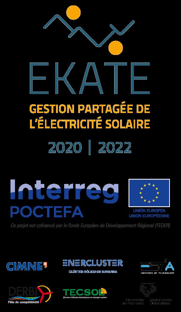 Logos et partenaires du projet Ekate