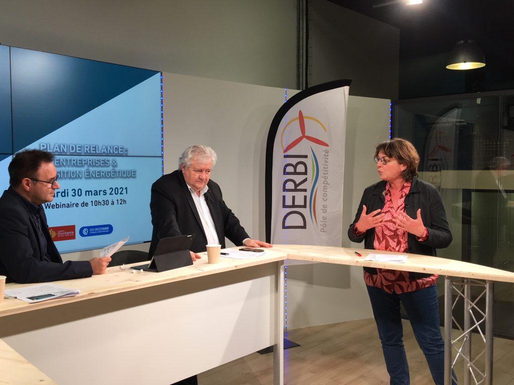 Plateau TV lors de la conférence du Pôle DERBI le 30 mars 2021