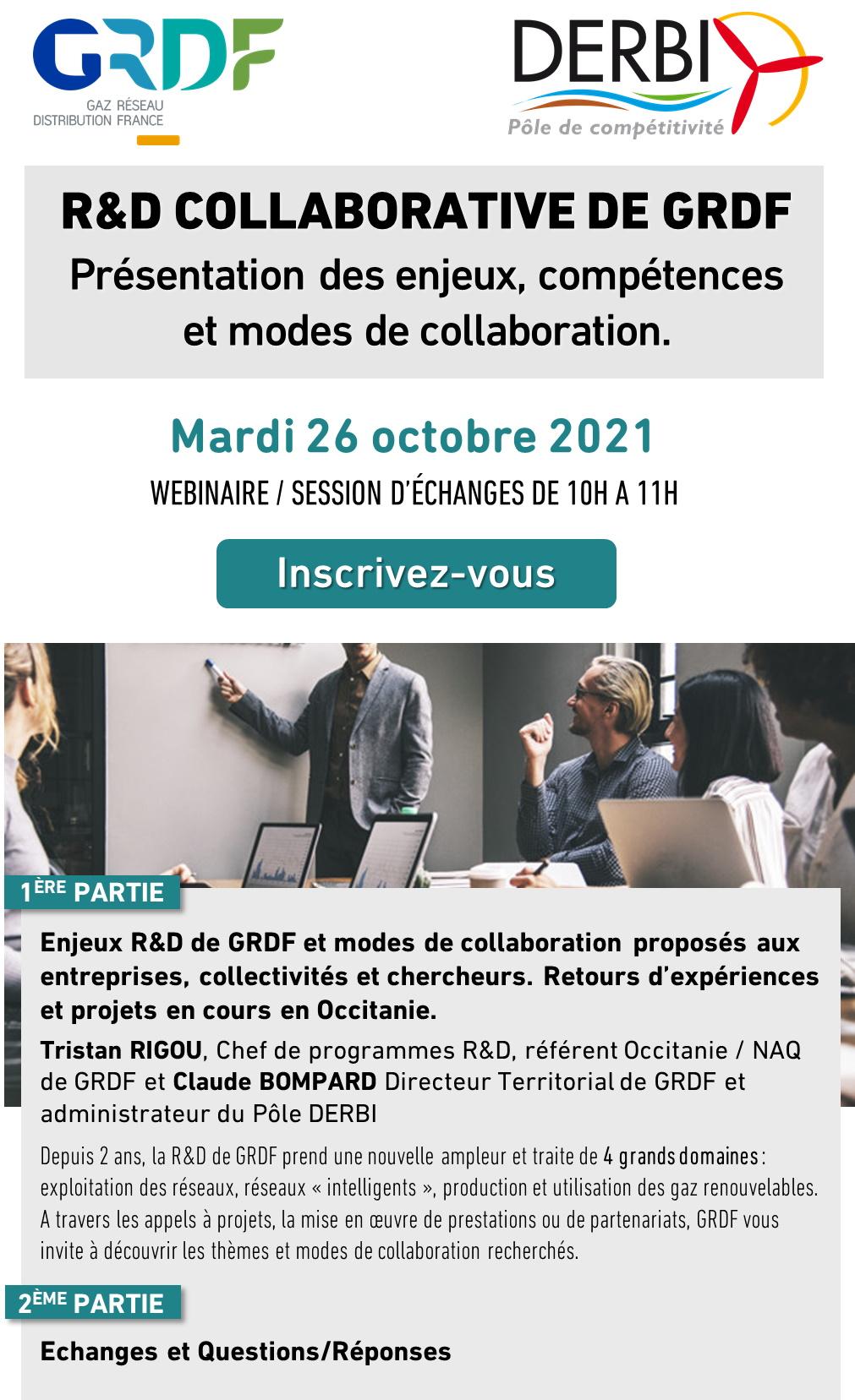 Session echange GRDF - Pôle de compétitivité Derbi